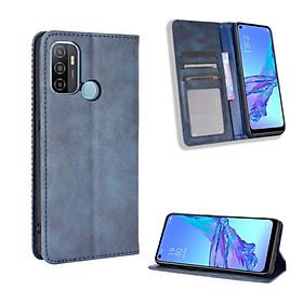 Bao da dành cho OPPO A53 Flip Wallet Leather dạng ví đa năng siêu bền siêu êm