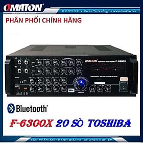 Amply OMATON 6300 - Ampli 20 sò nhật công suất lớn - Tặng dây AV, chống lăn Micro - hàng chính hãng