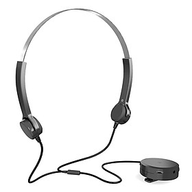 Bone Conduction Headsets Wired Headphones Sound Pick-up AUX IN Black