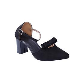 Giày Sandal Cao Gót Đế Vuông Thời Trang Erosska ER009 - Đen