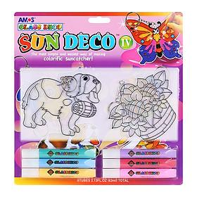 Bộ Bút Vẽ Trang Trí Amos Glass Deco Sun Deco IV SD10B6-D3 (400g)