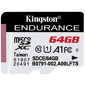 Kingston 64GB TF (MicroSD) memory card U1 C10 A1 driving recorder & home surveillance camera dedicated memory card high durability