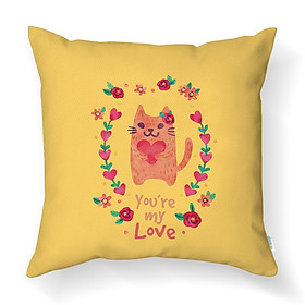Gối Tựa Lưng Sofa LOVIN You Are My Love Gv1003 Vải Canvas