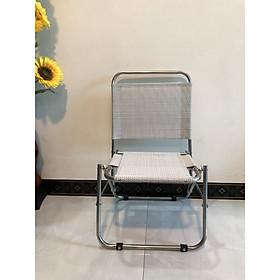 Ghế ngồi cafe, ghế câu cá inox xếp tiện lợi VV01-Tặng quạt USB (quạt màu ngẫu nhiên)