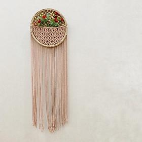 Giỏ trang trí treo tường - Giỏ trang trí đan tay thủ công chất liệu Macrame   - Đủ màu