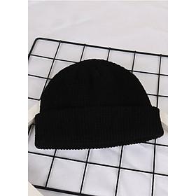 Mũ len trùm đầu phong cách Hip Hop NL17, Nón len trơn màu phong cách Hàn Quốc dành cho cả nam và nữ Màu Đen