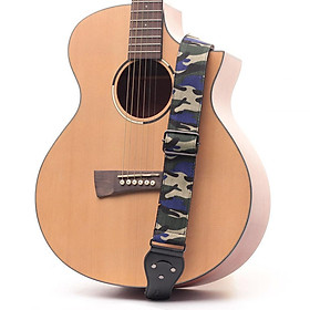 Camouflage Pattern Widen Tail Pin Strap for Steel String Guitar Bass Electric Guitar