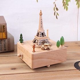 Hộp Nhạc Gỗ Tháp Eiffel Paris