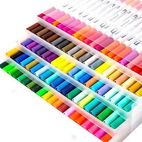 Bút tô màu nước 2 đầu - set 100 màu