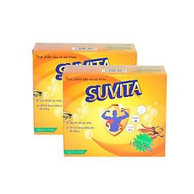 Combo 2 Hộp Đạm Bổ SUVITA giúp bồi bổ sức khỏe, tăng cường sức đề kháng , sử dụng Cho Người Làm Việc Qúa Sức (Hộp 10 vỉ x 10 viên)