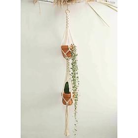 Giỏ treo chậu cây cảnh dây treo trang trí cây trong nhà