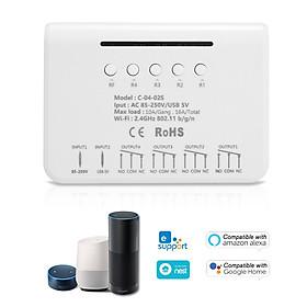 eWeLink Smart Wifi Switch 4 Gang Universal Wireless Light Switch 433MHz RF Remote Wifi Relay Equal to 4CH Pro R2 Ewelink