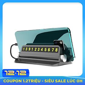 Bảng số điện thoại gắn taplo ô tô kiêm giá để điện thoại