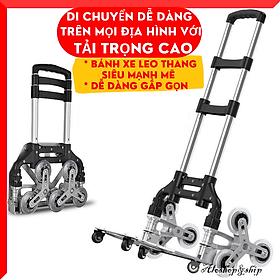 Xe Đẩy Hàng Leo Cầu Thang Tải 150kg Gấp Gọn - Xe Kéo Hàng Gấp Gọn Siêu Mạnh Mẽ
