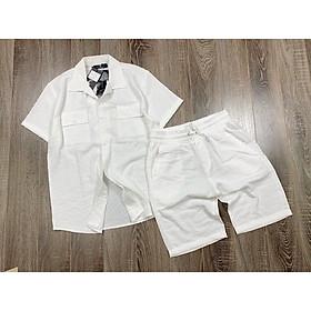Bộ quần áo nam chất liệu đũi dày, mịn fullsize - bn283 - Azila