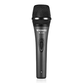 """Professional Dynamic Moving-coil Vocal Handheld Microphone Cardioid with 16ft XLR-to-1/4"""" Detachable Cable for Karaoke"""