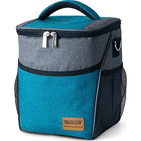 Leakproof Insulated Cooler Bag Lunch Bag for Outdoor Camping Picnic Beach Grocery Shopping