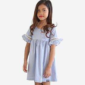 Đầm Bé Gái KIKA Ren Tay K122 - Xanh Nhạt
