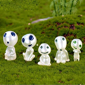 10Pieces Cartoon Character Tree Elf Toys for House Bonsai Gardening Ornament