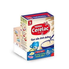 Bột Ăn Dặm Nestlé Cerelac - Gạo Sữa Dinh Dưỡng (200g) - Tặng Kèm Bộ Chén Muỗng Ăn Dặm