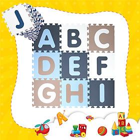Thảm xốp lót sàn cho bé - chữ cái Pastel (26 miếng, diện tích 2.4m2) Smile Puzzle_KHÔNG MÙI TIÊU CHUẨN CHÂU ÂU