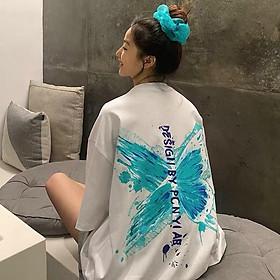 < FREESHIP > Áo thun nam nữ vải thun cotton mềm mịn thấm hút mồ hôi form 75kg ( Bướm )