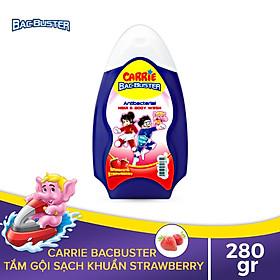 Sữa Tắm Gội Sạch Khuẩn Cho Bé Carrie BacBuster Strawberry 280g