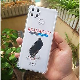 Ốp lưng dành cho Realme C12 - chống sốc gờ cao 4 góc trong suốt