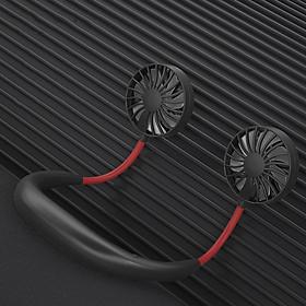 Quạt Đeo Cổ Mini , Quạt Thể Thao Mini, Quạt USB - Quạt Không Cánh Thời Trang 3 Tốc Độ Gió Làm Mát Nhanh, Biên Độ Thổi 360 Độ Dễ Chịu, Sạc USB Siêu Nhanh, Quạt Tích Điện Thời Gian Sử Dụng 6 Tiếng