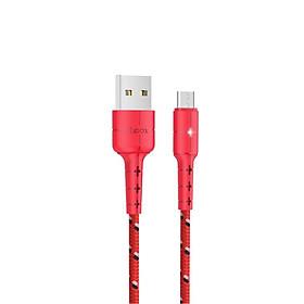 Cáp sạc Micro USB Hoco X14 Pro, cáp sạc bọc dù siêu bền, hỗ trợ sạc nhanh 3A Max, tự ngắt khi pin đầy, LED báo sạc dành cho Samsung, Huawei, Xiaomi, Oppo, Sony - Hàng chính hãng
