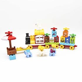 Bộ đồ chơi lắp ghép smoneo duplo xếp hình mô hình theo đa dạng chủ đề cửa hàng - robot- tàu hỏa - oto - TOYS HOUSE 55001/77001/66001 - tặng đồ chơi tắm 2 món