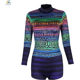 Đồ bơi liền mảnh nữ Lan Hạnh áo tay dài quần shorts nhiều màu 30032-XD204