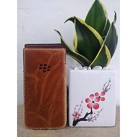 Bao Da Rút Blackberry Keyone Màu Vàng Bò Sang Trọng