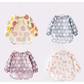 Áo Yếm Ăn Dặm Mastela cho Bé 0-2 tuổi , chất liệu vải cotton mềm mại và chống thấm tốt (Giao màu ngãu nhiên)