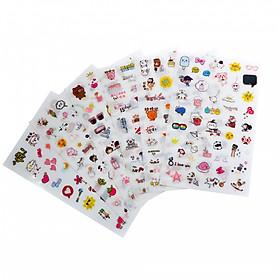 Bộ 6 tấm sticker trang trí T-1006