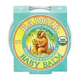 Sáp Hữu Cơ Dưỡng Da Cho Bé Badger Baby Balm - Dưỡng ẩm và bảo vệ da bé, chứng nhận USDA Organic - 0.75oz (21g)