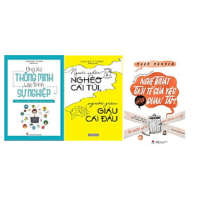 Combo 3 cuốn Người nghèo nghèo cái túi người giàu giàu cái đầu + Ứng xử thông minh lập trình sự nghiệp + Nghệ thuật tinh tế của việc đếch quan tâm