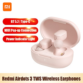 Redmi Airdots 3 TWS BT5.2 Wireless Earphones In-Ear Earbuds MIUI Pop-up Connection/Touch Control/Noise Reduction/IPX4
