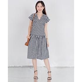 J-P Fashion - Đầm caro 11004328