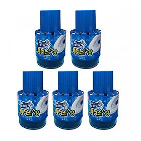 Combo 5 chai tẩy diệt khuẩn bồn cầu, toilet hương Ngàn Hoa Mr.Fresh Korea 180g