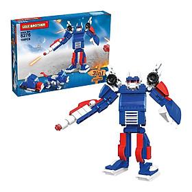 Bộ Lắp Ráp Optimus Prime Lele Brother - Transformer Fighter 3in1 8276 (153 Mảnh Ghép)