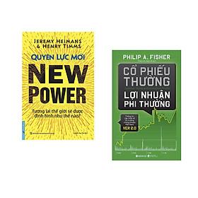 Combo 2 cuốn sách: Quyền Lực Mới - Tương lai TG sẽ được định hình như thế nào? + Cổ Phiếu Thường Lợi Nhuận Phi Thường