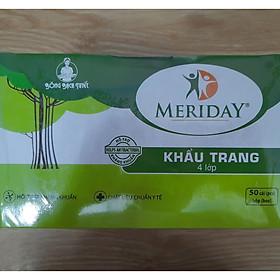 Khẩu Trang Y Tế Meriday Bông Bạch Tuyết KT009 - Xanh (50 cái)