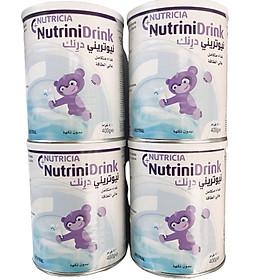 Combo 4 hộp Sữa Bột Nutricia NutriniDrink Hương Neutral (400g)