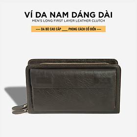 Ví Nam Dài Cầm Tay Pagini VID06 Da Bò Mill Cao Cấp, Phong Cách, Thiết Kế Đa Năng - Fullbox