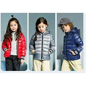 Áo phao lông vũ cao cấp cho bé trai và bé gái 3-8 tuổi