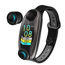 LEMFO LT04 Bracelet Wireless BT Earphone 2 In 1 Fitness Tracker Blood Pressure Monitor Waterproof Sport Smartwatch