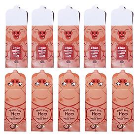 Bao Lì Xì Pig Cột Dây 2 Cảm Xúc (Xấp 10 bao)