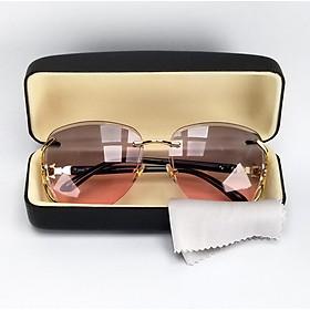Mắt kính mát nữ DKY1886M tròng không viền, phân cực, chống tia UV. Gọng Polycarbonate ôm sát mặt
