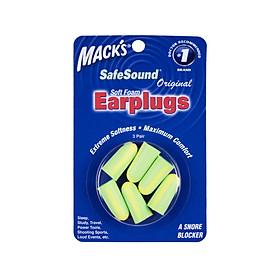 Hộp 3 Đôi Nút Bịt Tai Chống Ồn Mack's Safe Sound Siêu Mềm, Siêu Chống Ồn #903-DOL